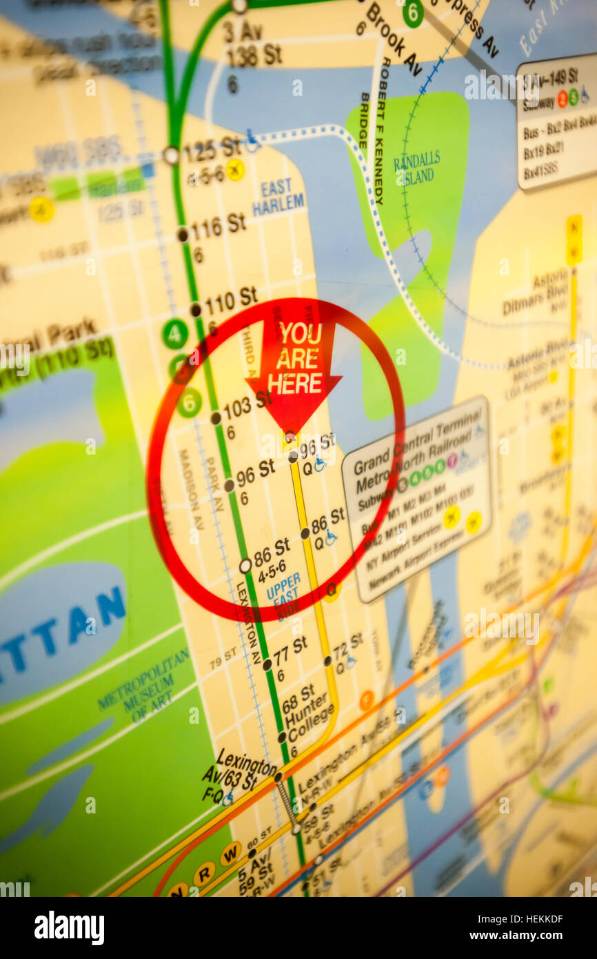 New Second Avenue Subway Map.New York Usa 22nd Dec 2016 A Subway Map Shows The Yet To Be