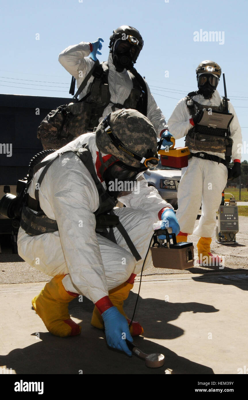 The highly-skilled Nuclear Disablement Teams of the 20th Support Command  traveled to Aiken, S.C., to participate Stock Photo