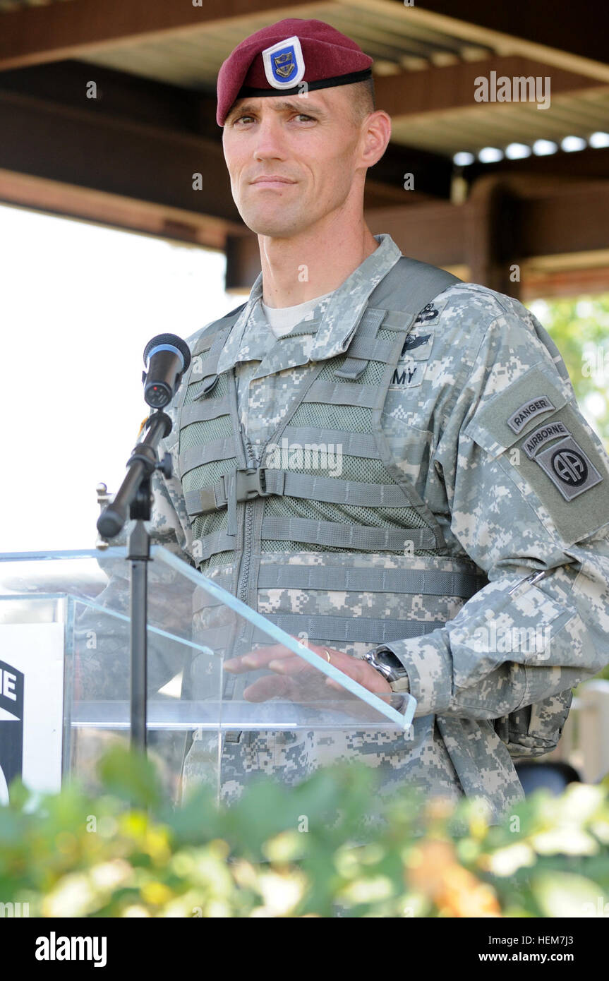 Command Sgt  Maj  Timothy Guden, outgoing command sergeant major of