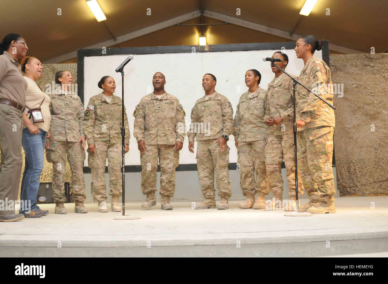 Members of the Kandahar Airfield Gospel Choir assigned to