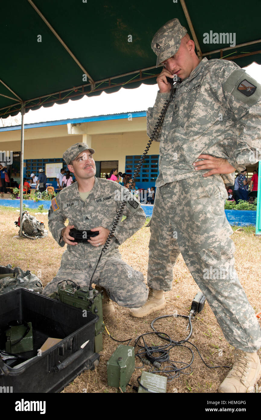 Staff Sgt Matthew Browning A Radio Operator From The 56th Signal Stock Photo Alamy