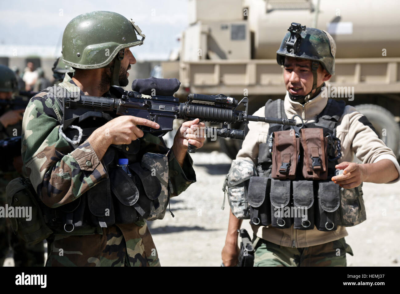 An Afghan National Army commando with 3rd Company, 1st