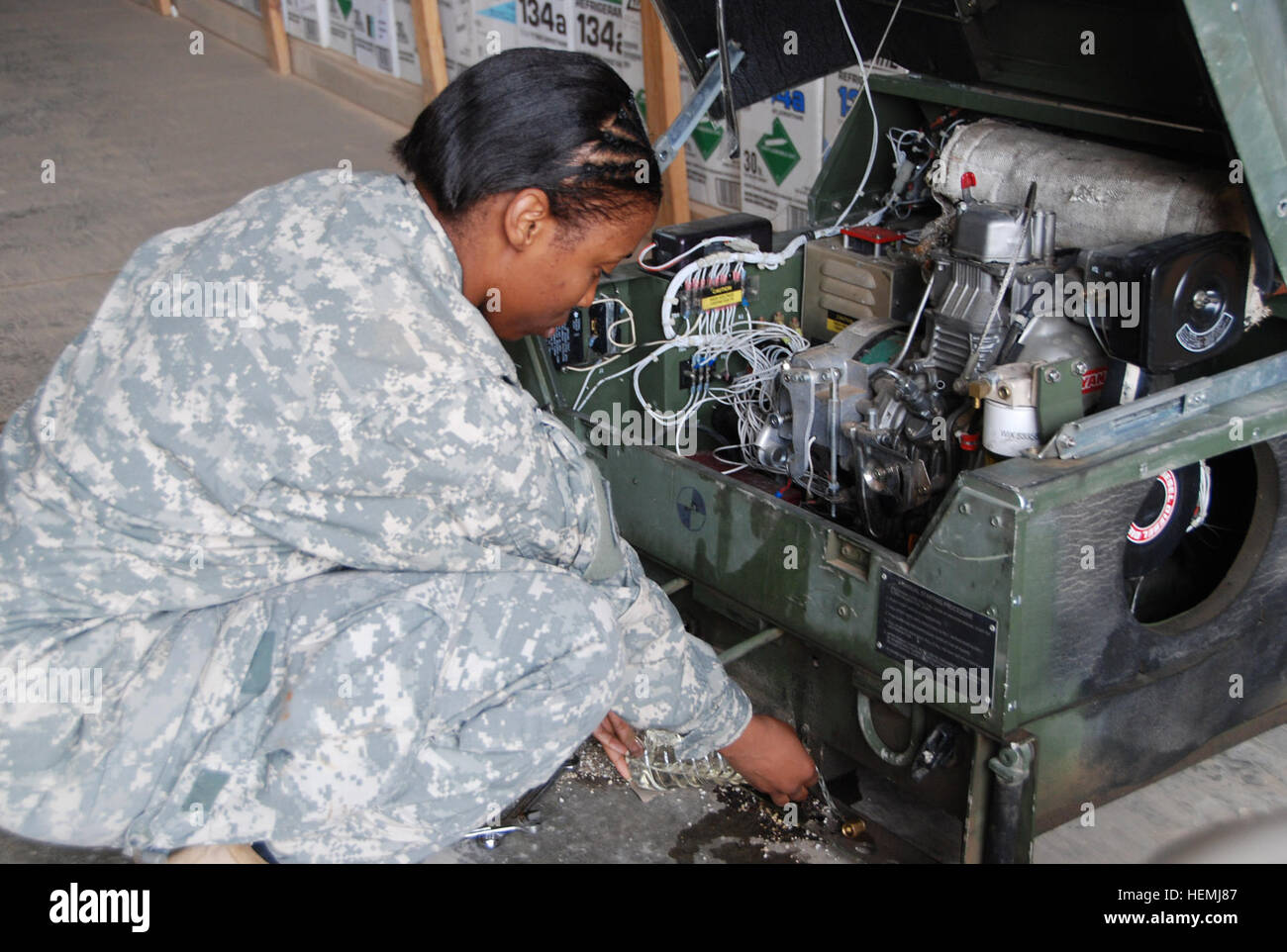 texarkana texas native sgt marketha cellers a generator mechanic with the 503rd maintenance company 398th combat sustainment support battalion