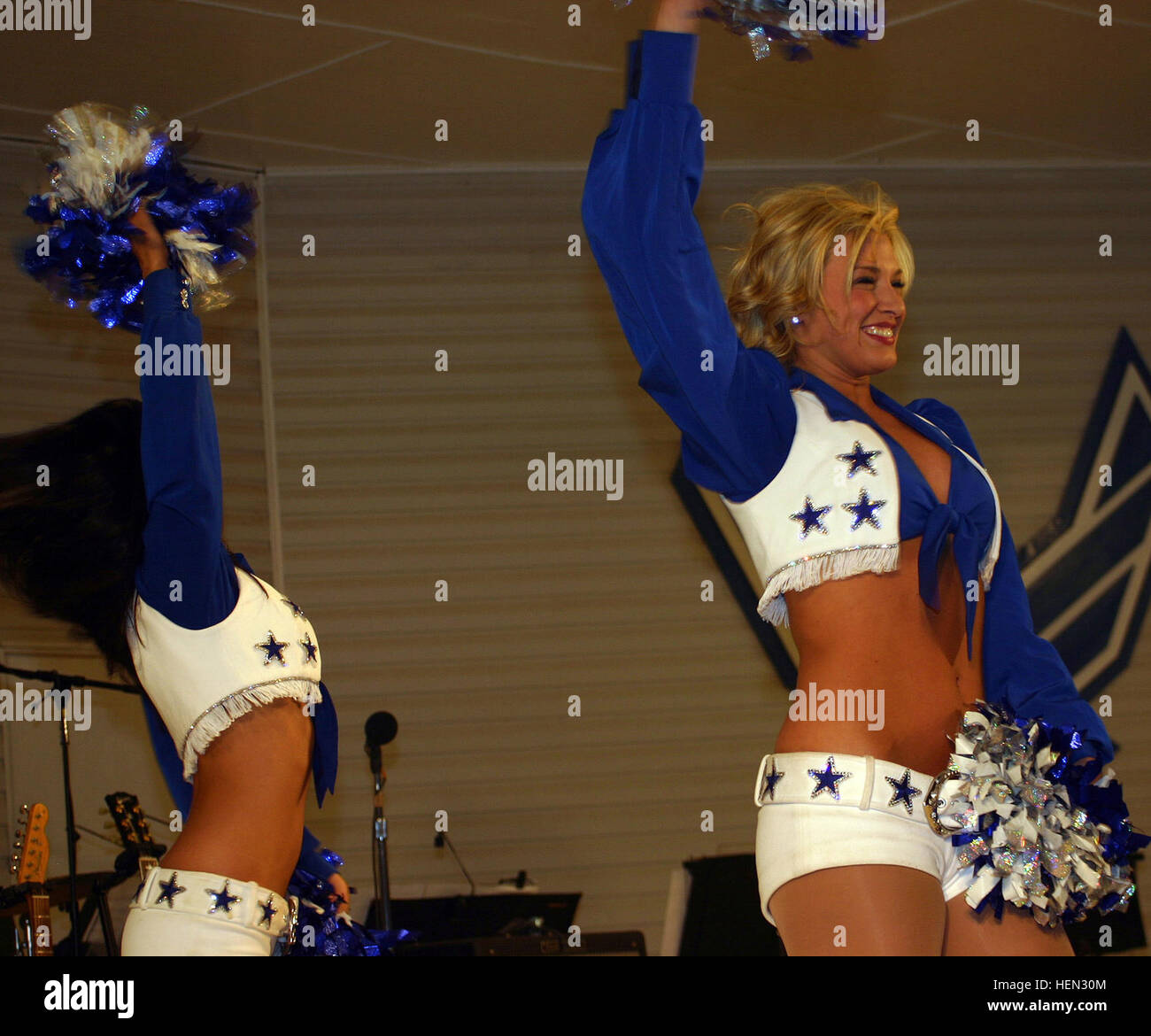 e290183d7 Four members of the Dallas Cowboy Cheerleaders entertain Task Force Warrior  Soldiers and Airmen at Forward