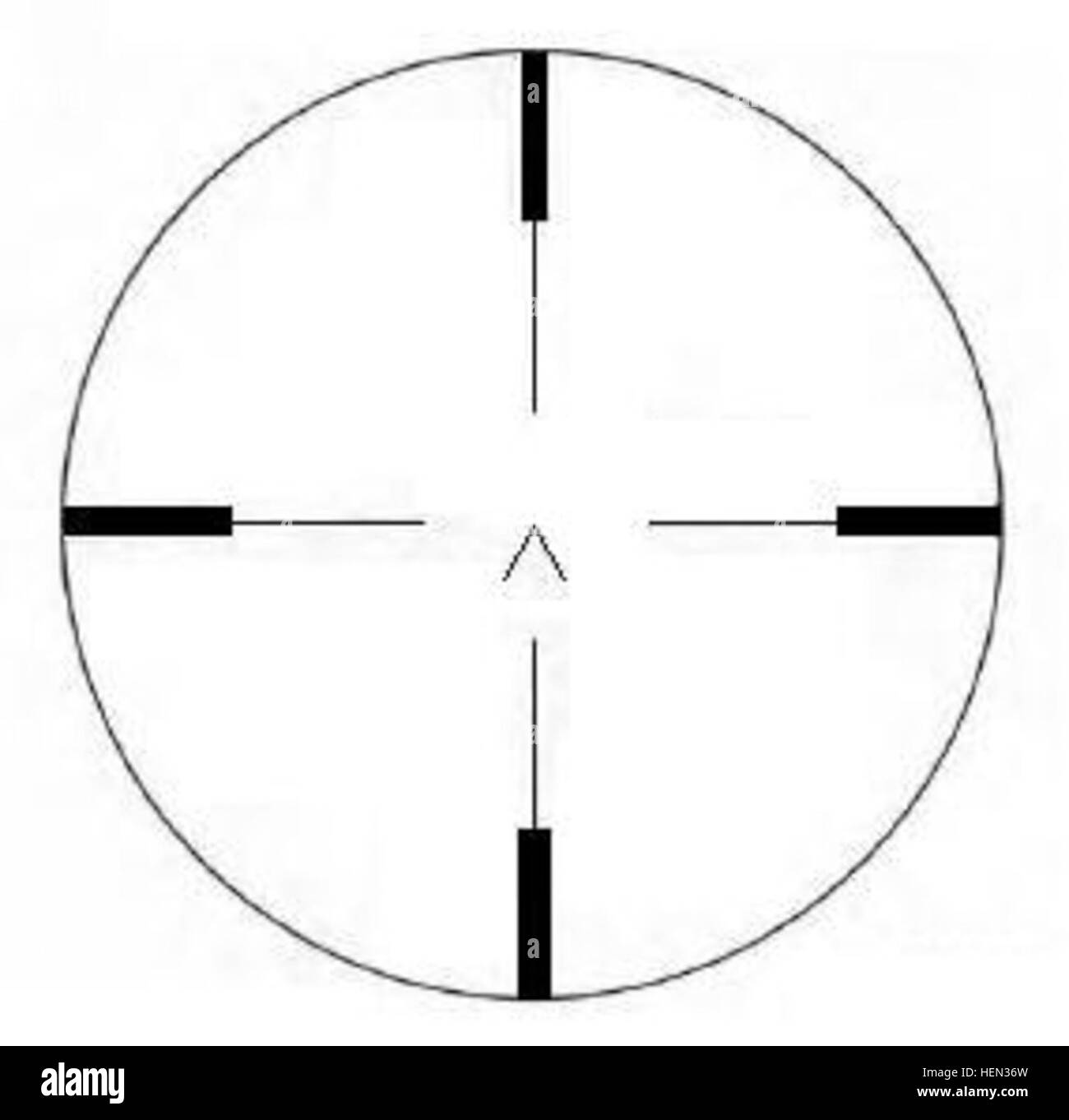 Z.F. 20E reticle 8,8cm Flak 18,36,37 Direct Fire Sight - Stock Image