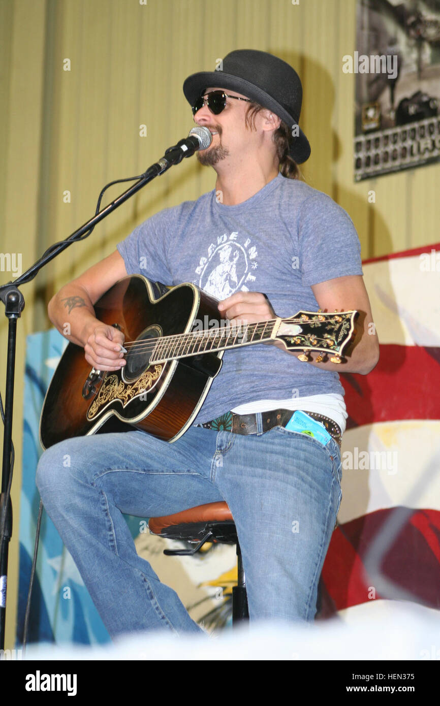 "Kid Rock performs a rendition of ""Sweet Home Alabama,"" originally by Lynyrd Skynyrd, during a performance at the Stock Photo"