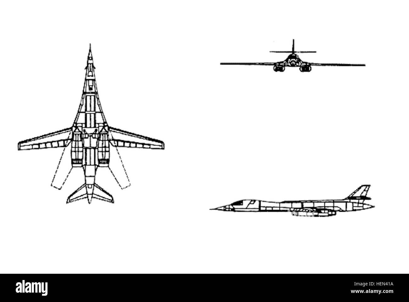 B-1B drawing Stock Photo: 129541926 - Alamy