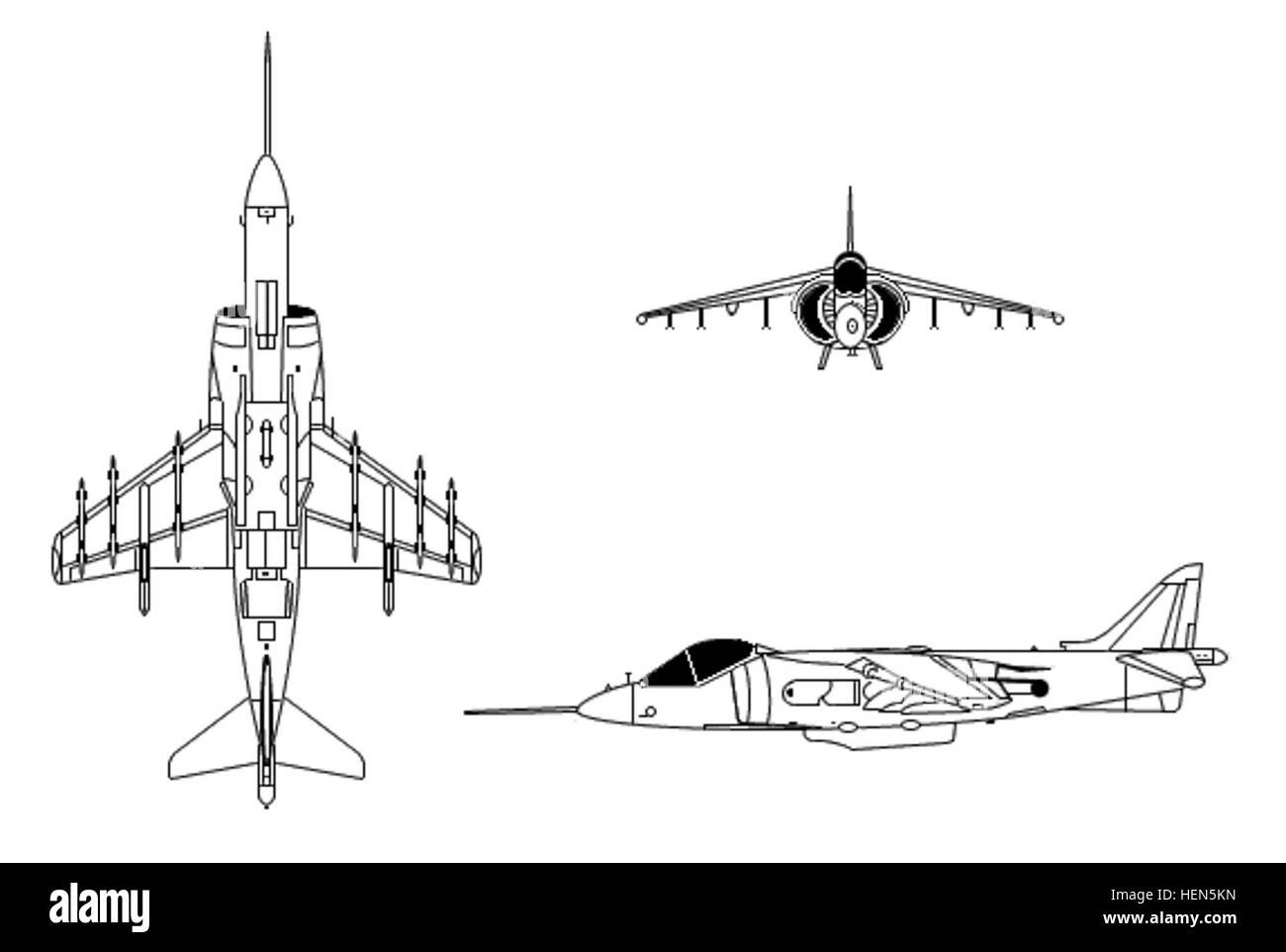 Harrier Ii Black And White Stock Photos Images Alamy Engine Diagram Mcdonnell Douglas Bae Av 8b Image
