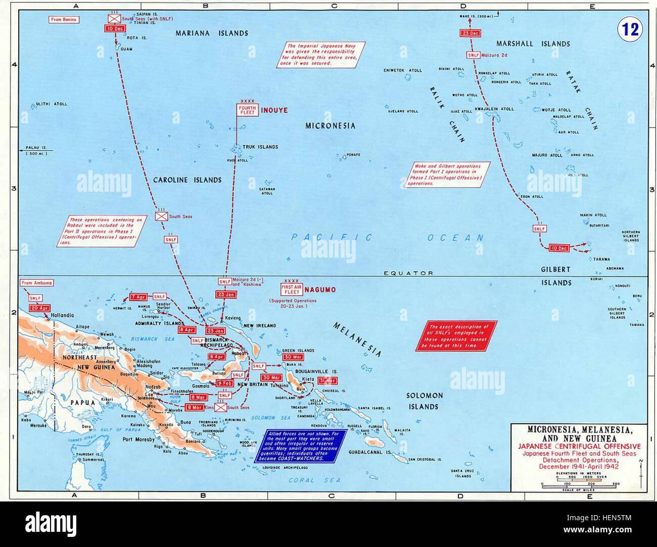 Pacific War - Micronesia, Melanesia and New Guinea 1941-42