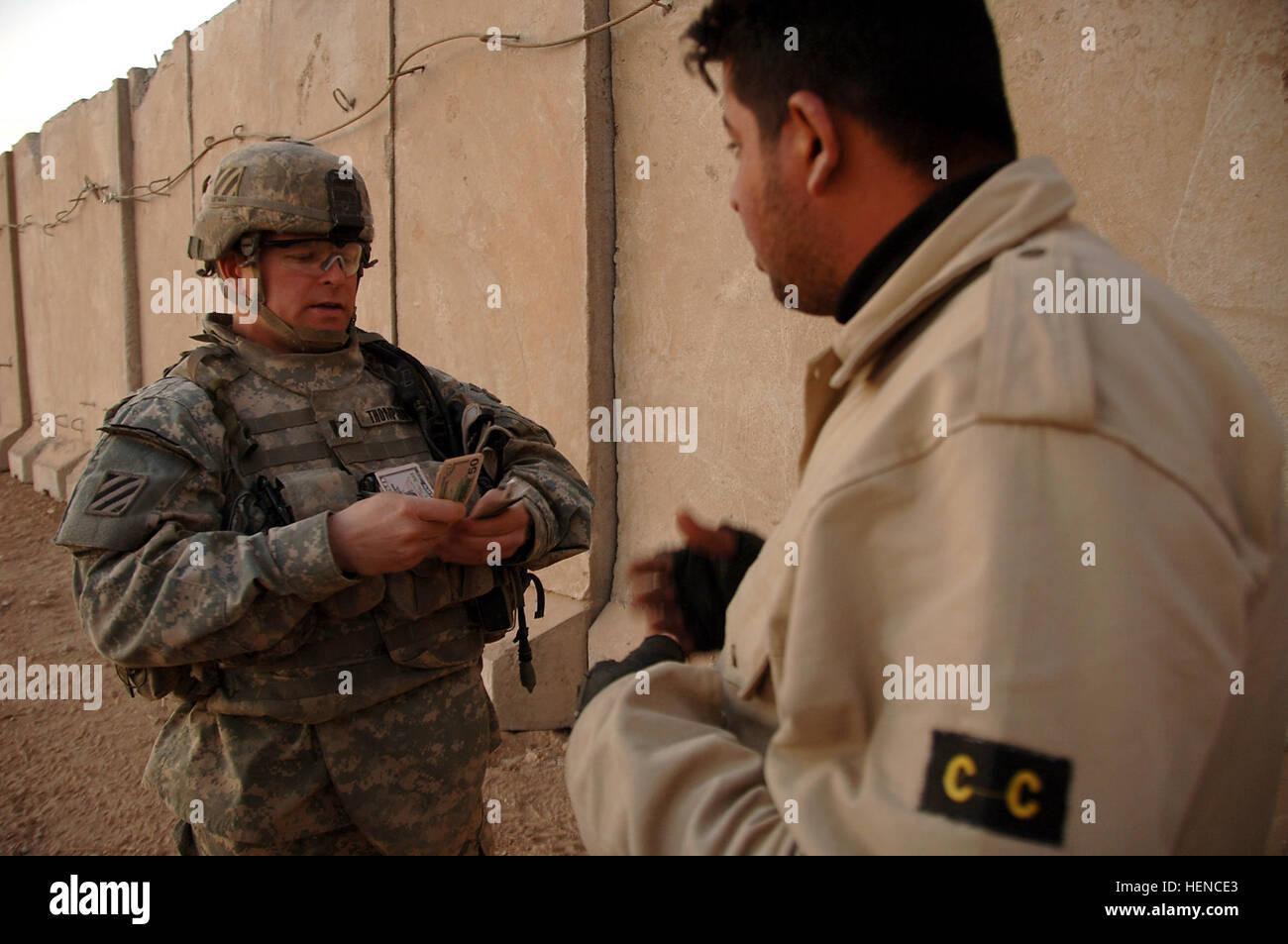 U.S. Army Capt. Rich Thompson, Baker Company Commander, 1st Battalion, 15th Infantry Regiment, 3rd Heavy Brigade Stock Photo