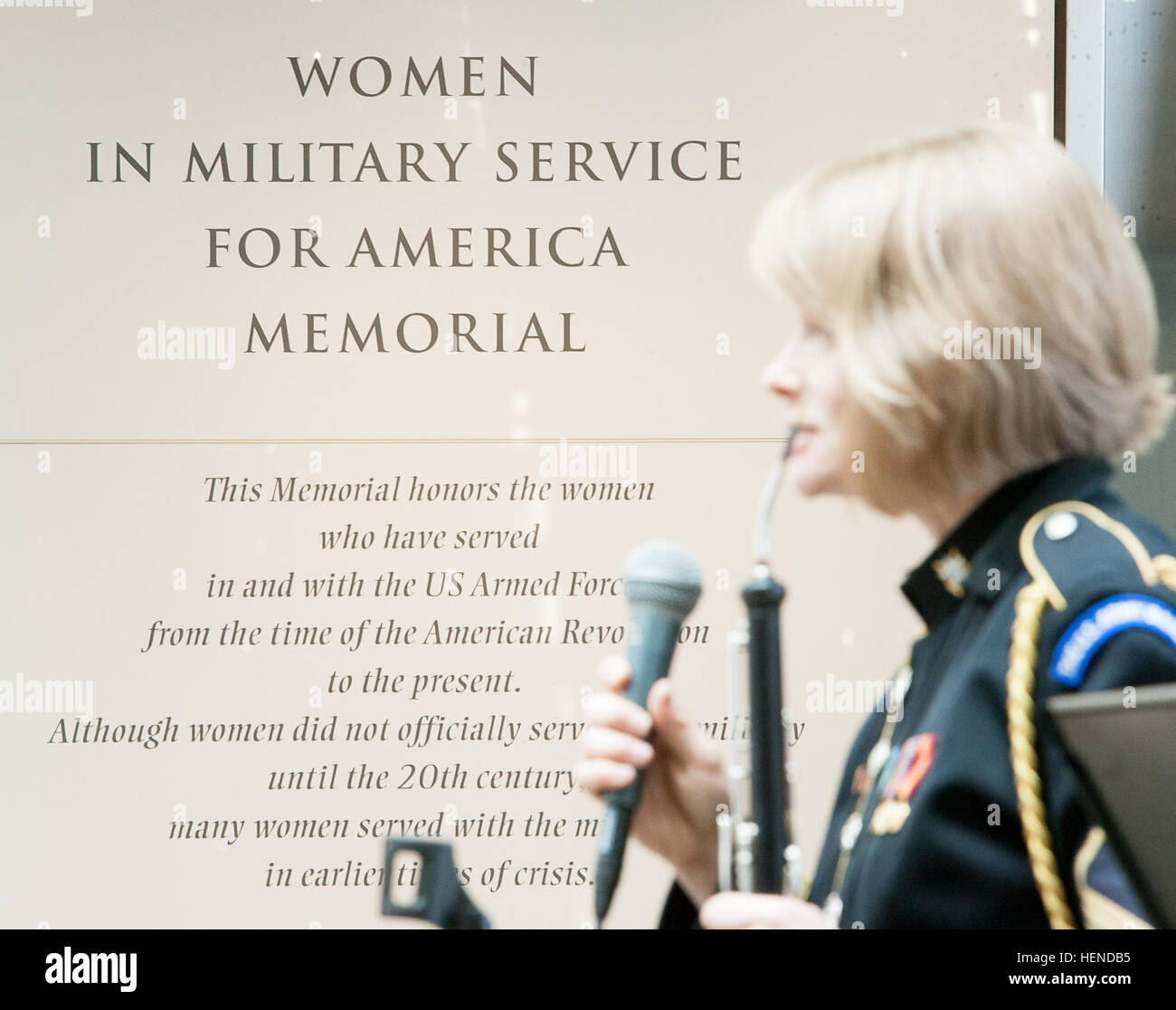 Female Military Musicians Stock Photos & Female Military