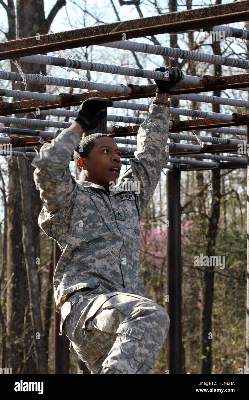 Sgt Darius Foster Of Rahway NJ 78th Training Division Joint Base McGuire Dix Lakehurst Negotiates A Bars Obstacle During The 84th