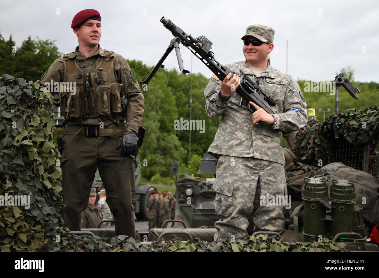 Transportation specialist, U S  Army Pfc  Brain Katta from
