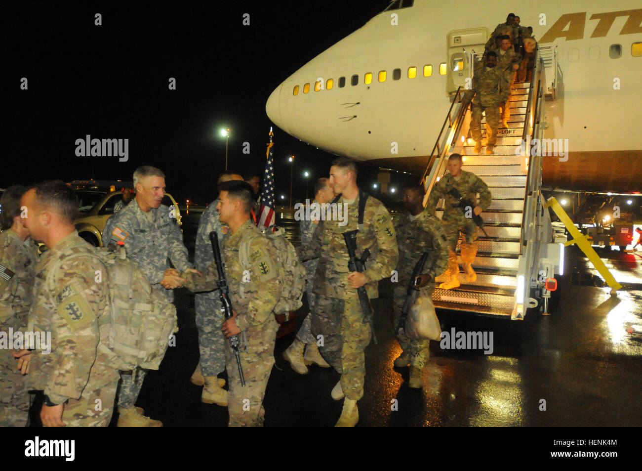 One Hundred And Eighty Eight Soldiers From The 65th Engineer Battalion 130th Brigade Departed An Airplane June 20 At Joint Base Pearl