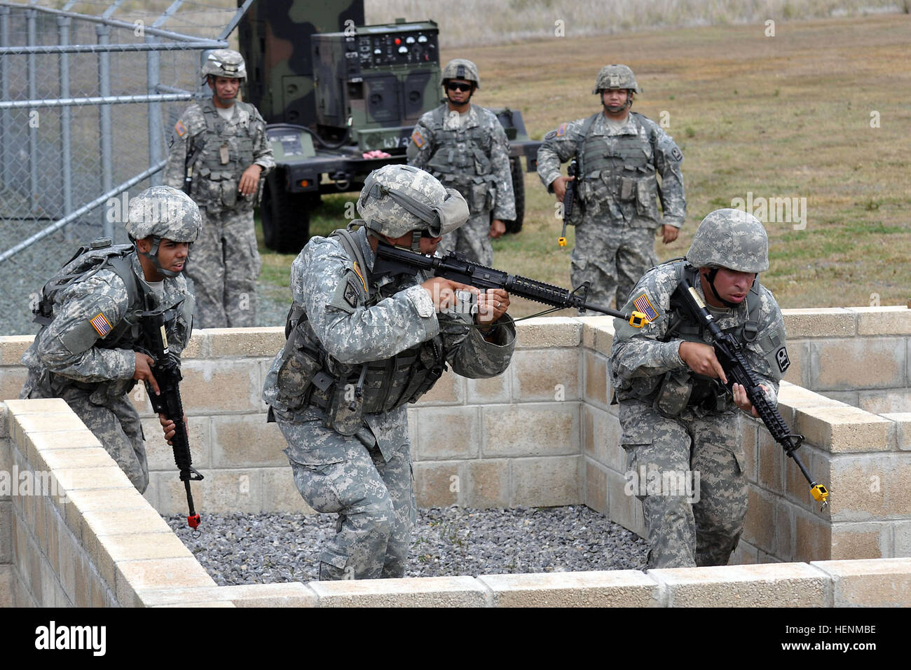 Citizen Soldiers Assigned To Delta Company 1 65th Infantry Battalion 92nd Maneuver