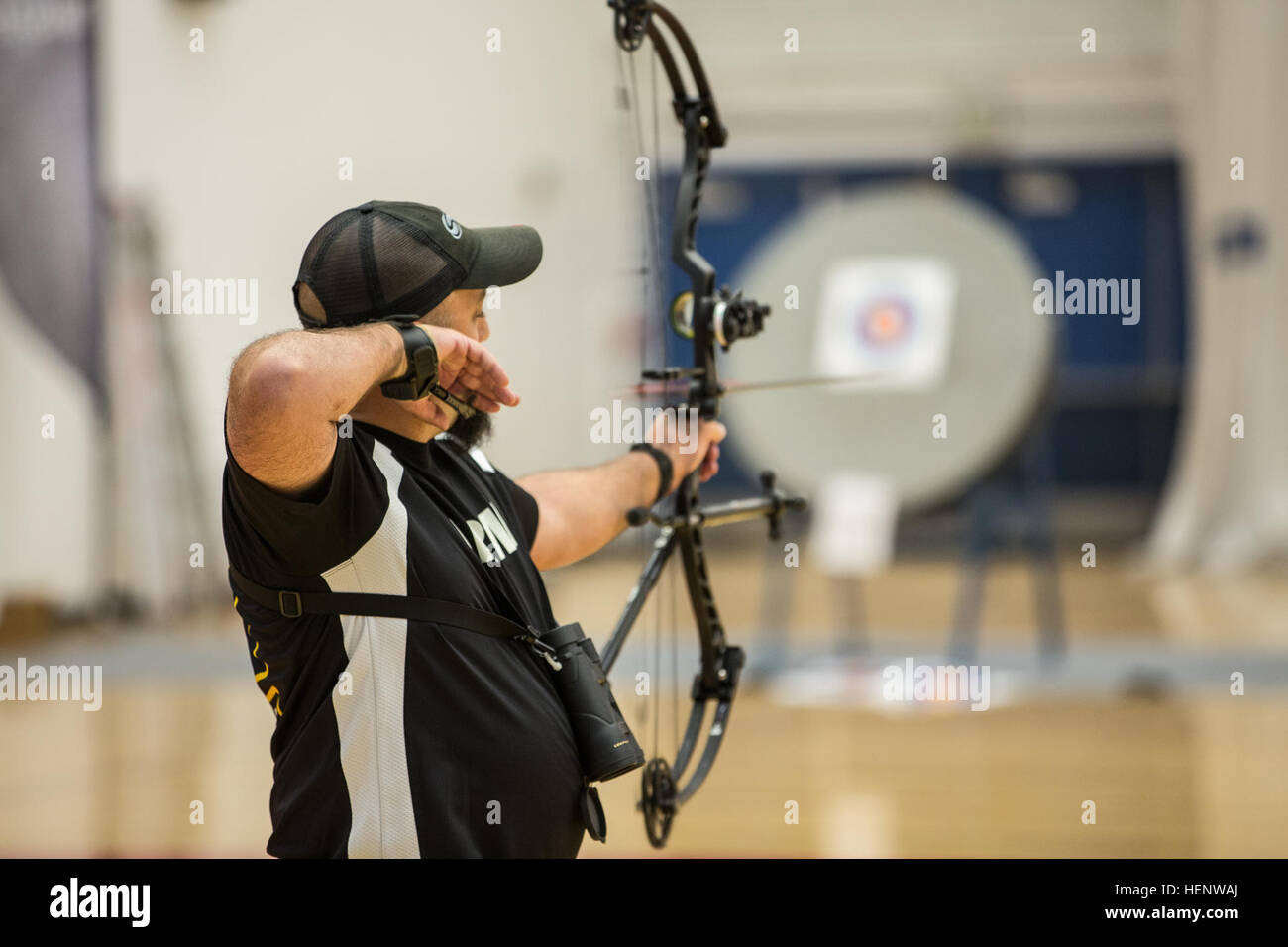 Retired U.S. Army Cpt. Frank Barroquiero Gainesville Ga. a member of & Olympic Archery Stock Photos u0026 Olympic Archery Stock Images - Page 8 ...