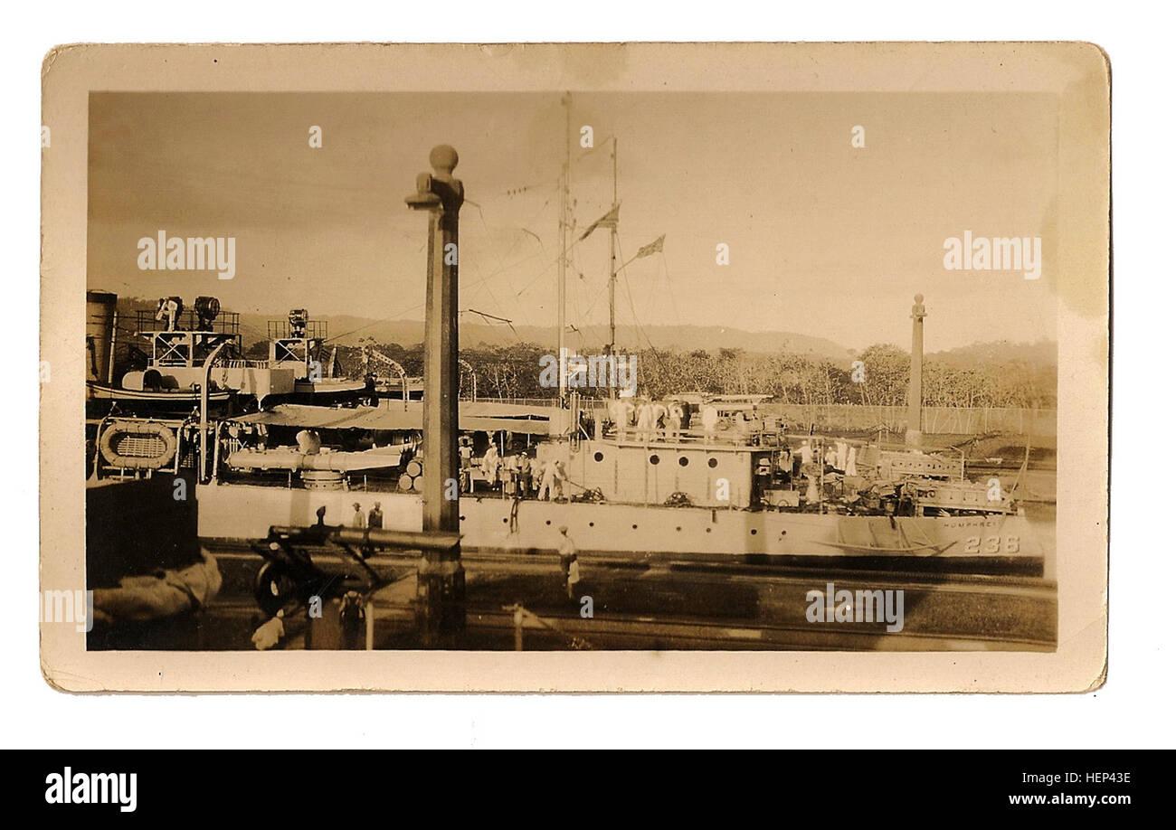 President-elect, Herbert Hoover and Battleship USS Utah (BB-31), 1928; President-elect Herbert Hoover with members - Stock Image