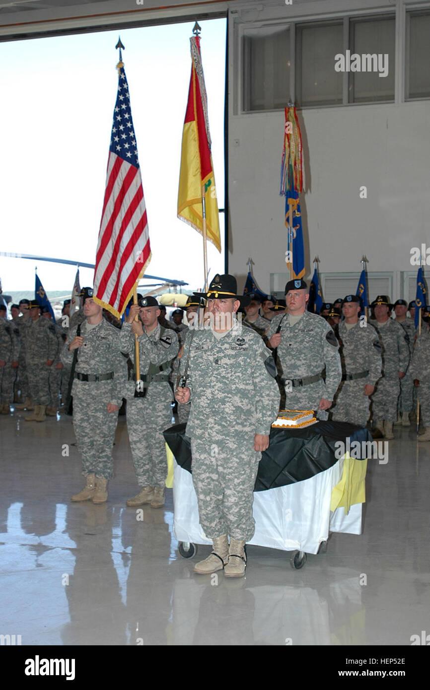 Dallas native Command Sgt. Maj. Glen Vela, incoming command sergeant major for the 1st Air Cavalry 'Warrior' - Stock Image