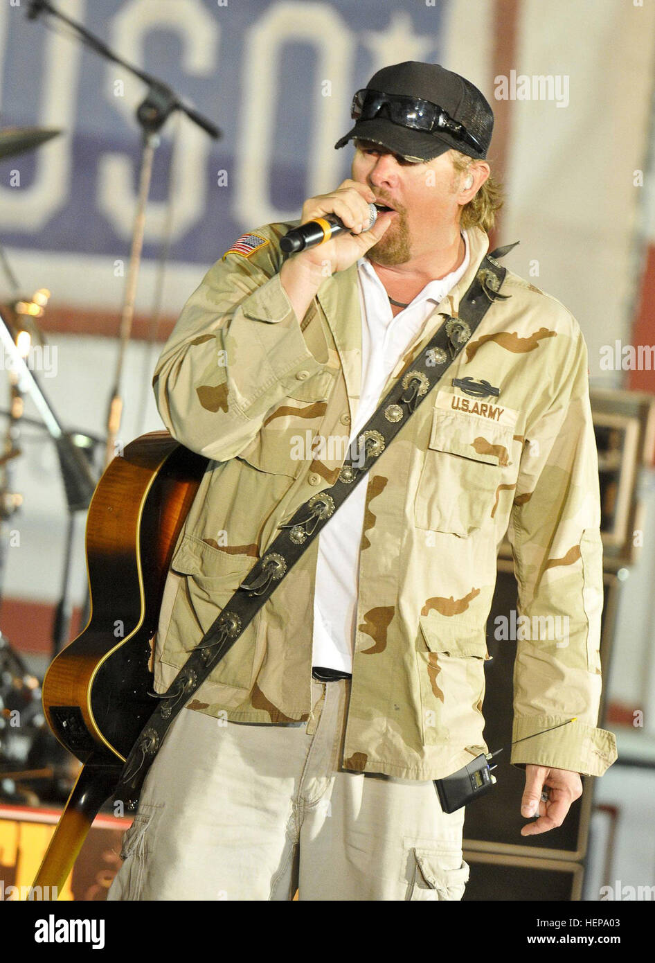 621bd39bc37cb Country music star Toby Keith performs for U.S. Division-North service  members and civilians during a USO concert at Contingency Operating Base  Speicher