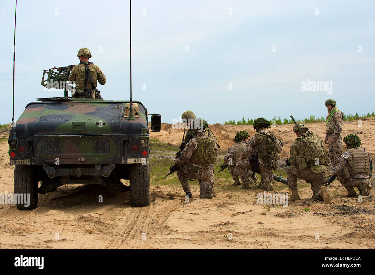 Soldiers From A Troop 1st Squadron 91st Cavalry Regiment 173rd Airborne Brigade Out Of Grafenwhr Germany And Infantry Battalion Latvian Land