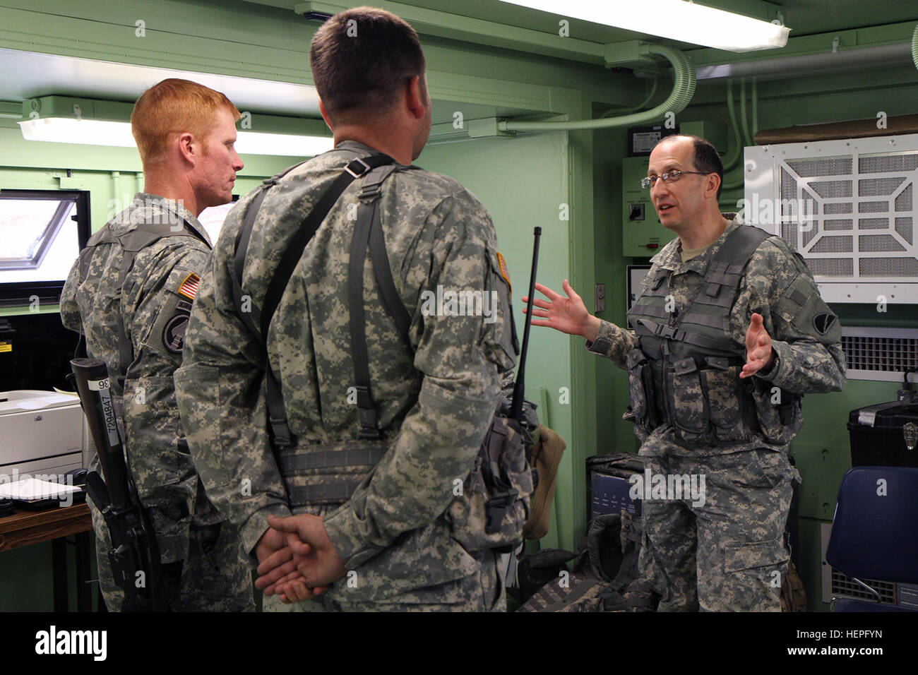 Gary Port Of The 78th Training Division Speaks With Soldiers 373rd Combat Sustainment Support Battalion CSSB During Warrior Exercise 78 13 01 On
