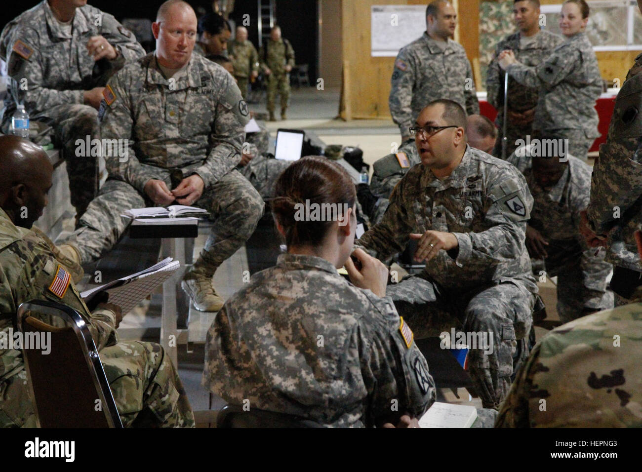 Jonathan Funk 91st Training Division Discusses Procedures For Medical Care During The Upcoming Combat Exercises On Fort Hunter Liggett Calif Feb