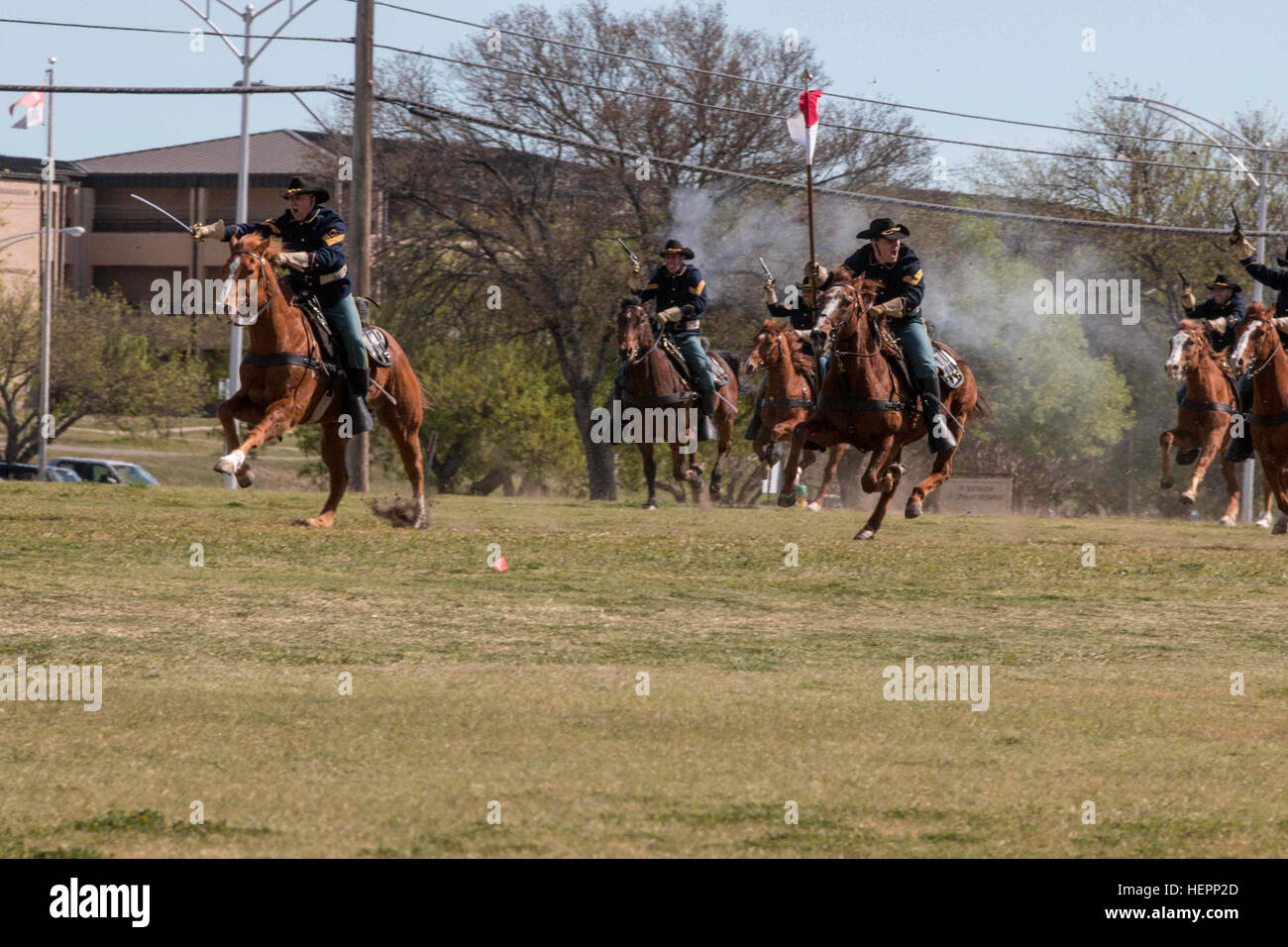 the 1st cavalry division horse cavalry detachment conducts a cavalry
