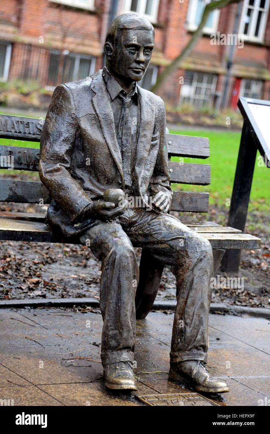 Alan Turing Statue, Manchester Stock Photo