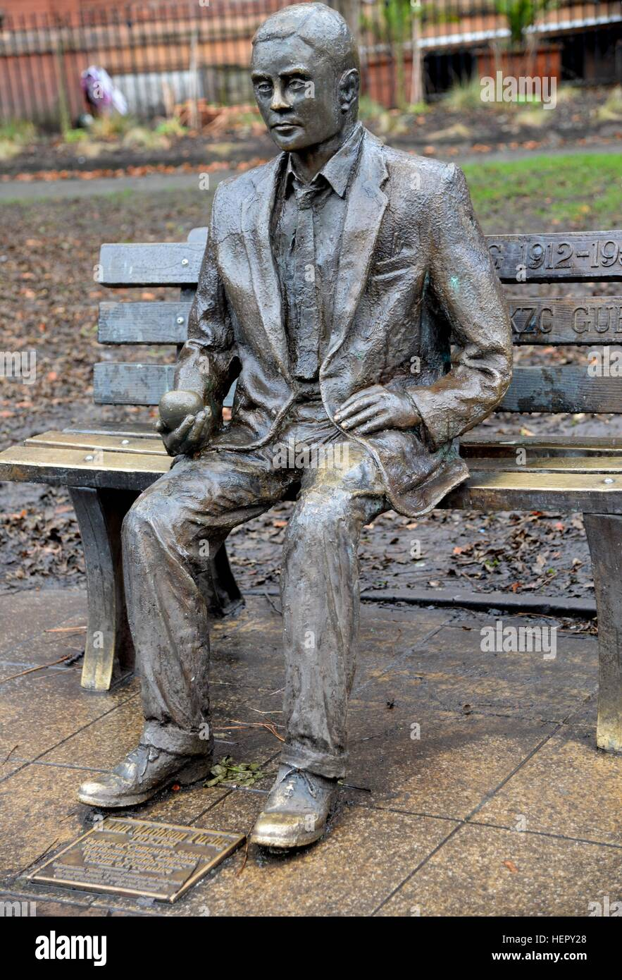 Alan Turing Statue, Manchester - Stock Image