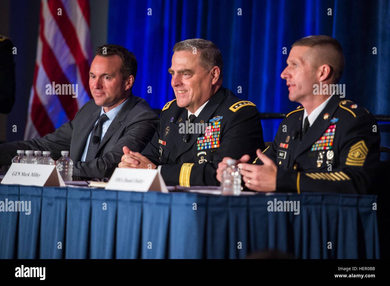 U S  Army Chief of Staff, Gen  Mark A  Milley, attends the Family