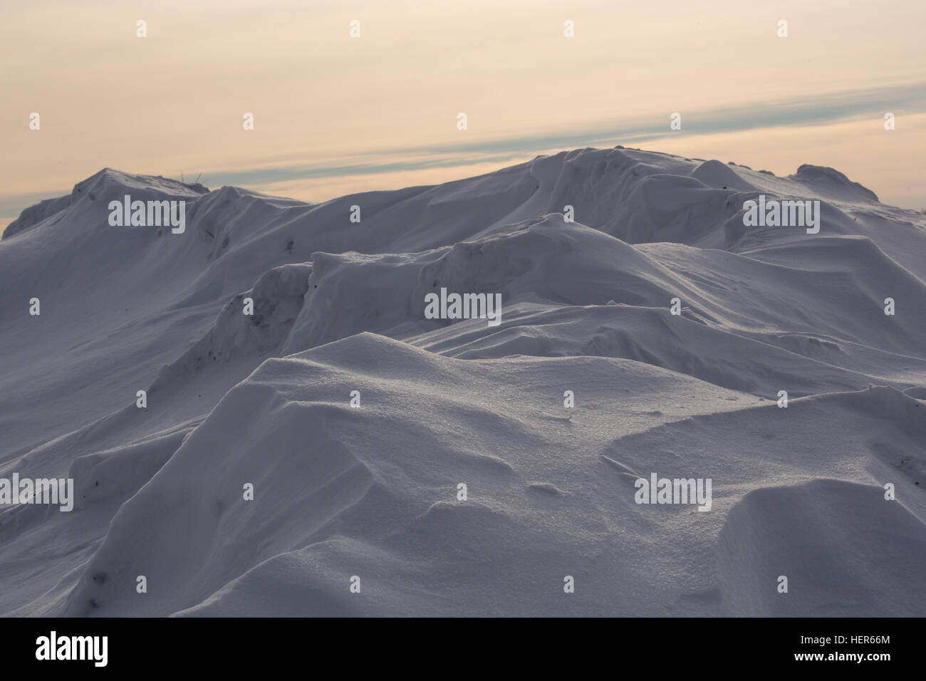 Snowdrift isolated on white background for design - Stock Image