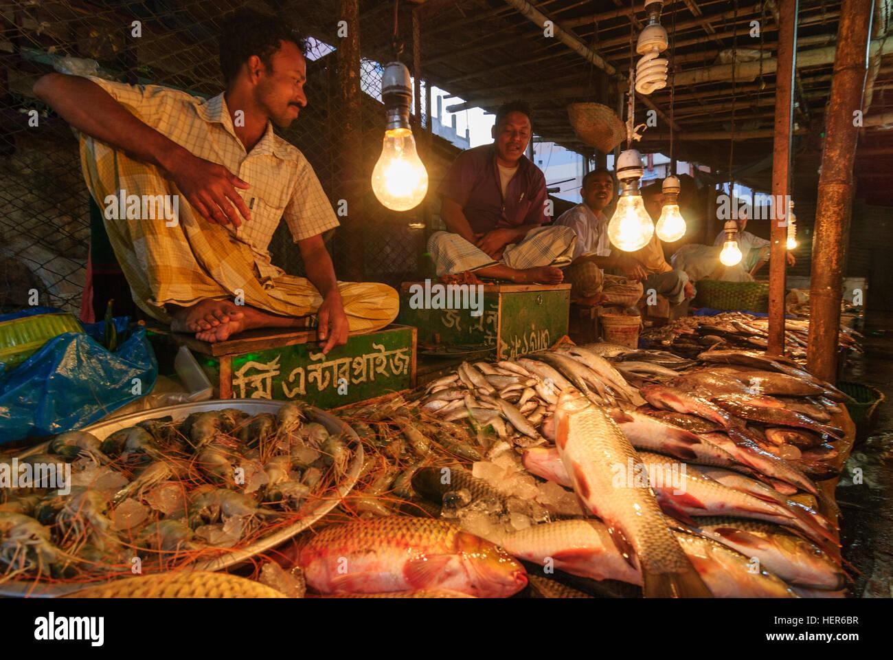 Fish Market Chittagong Bangladesh Stock Photos & Fish Market