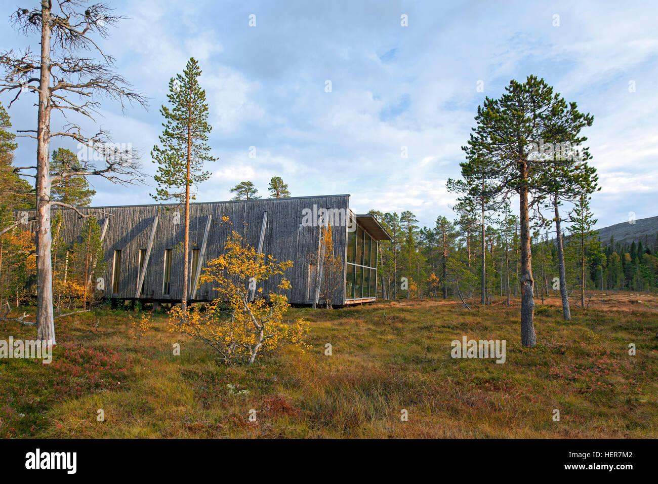 Visitor center of Fulufjället National Park, Älvdalen, Dalarna, Sweden - Stock Image