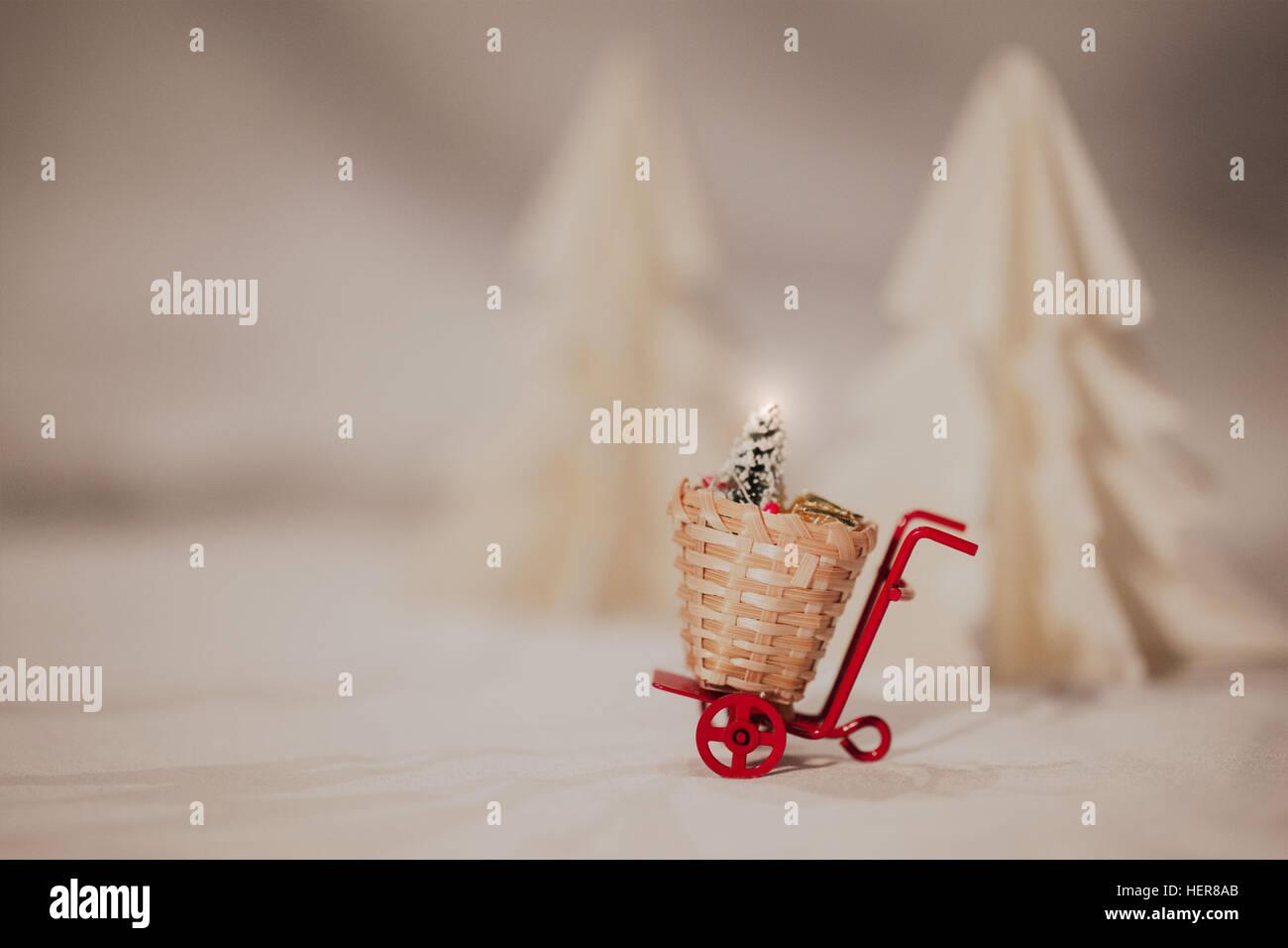 1 object,basket,beautiful,christmas,christmas tree,decoration,decorative,design,fir,handmade,isolated,japan,love,object,origami,origami - Stock Image