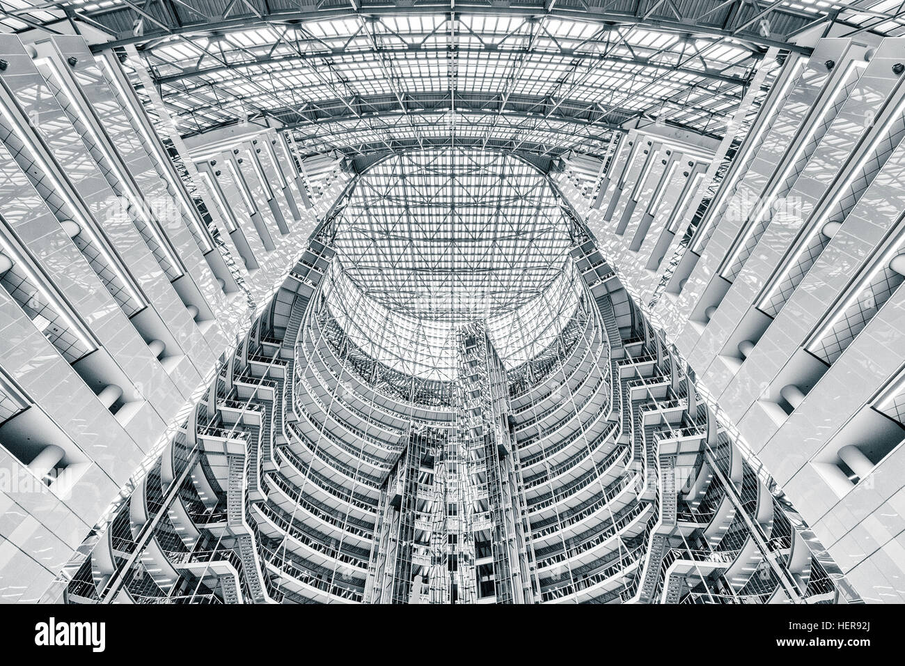 Symmetrische Innenarchitektur, Chicago, James R. Thompson Center