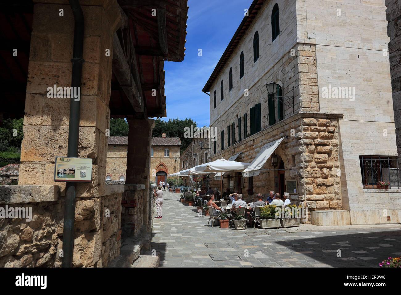Italien, Therme Bagno Vignon in der Provinz Siena, Region Toskana Stock Photo