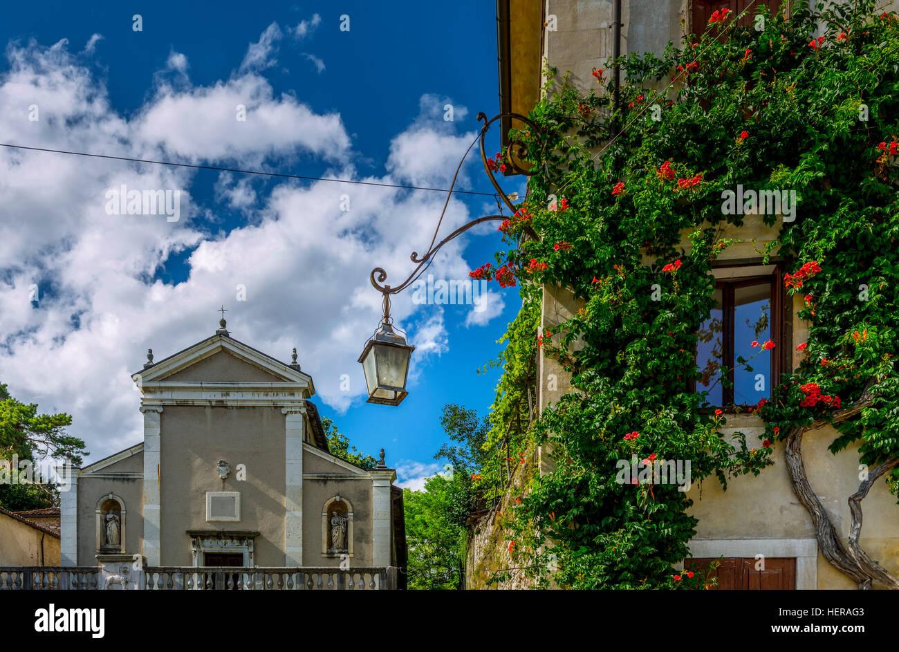 Italien, Südtirol, Dolomiten, Feltre, Piazza Maggiore, San Rocco di San Sebastiano Stock Photo