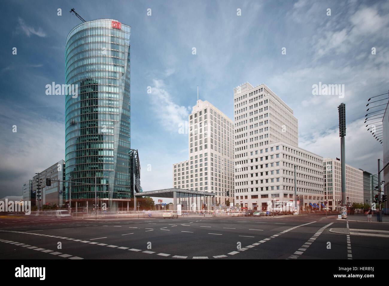 dynamische Aufnahme Potsdamer Platz - Stock Image