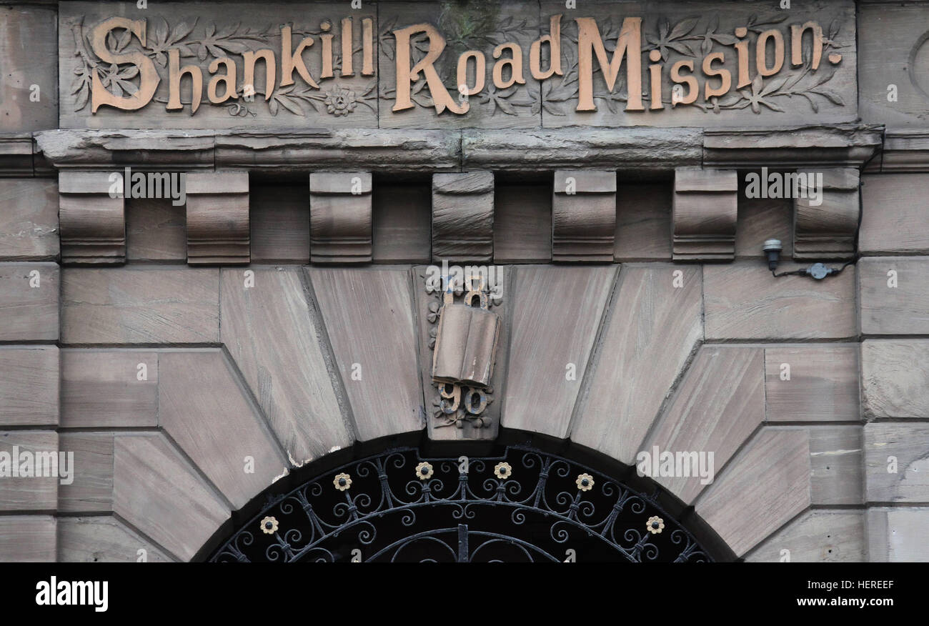 Shankill Road Mission in Belfast - Stock Image