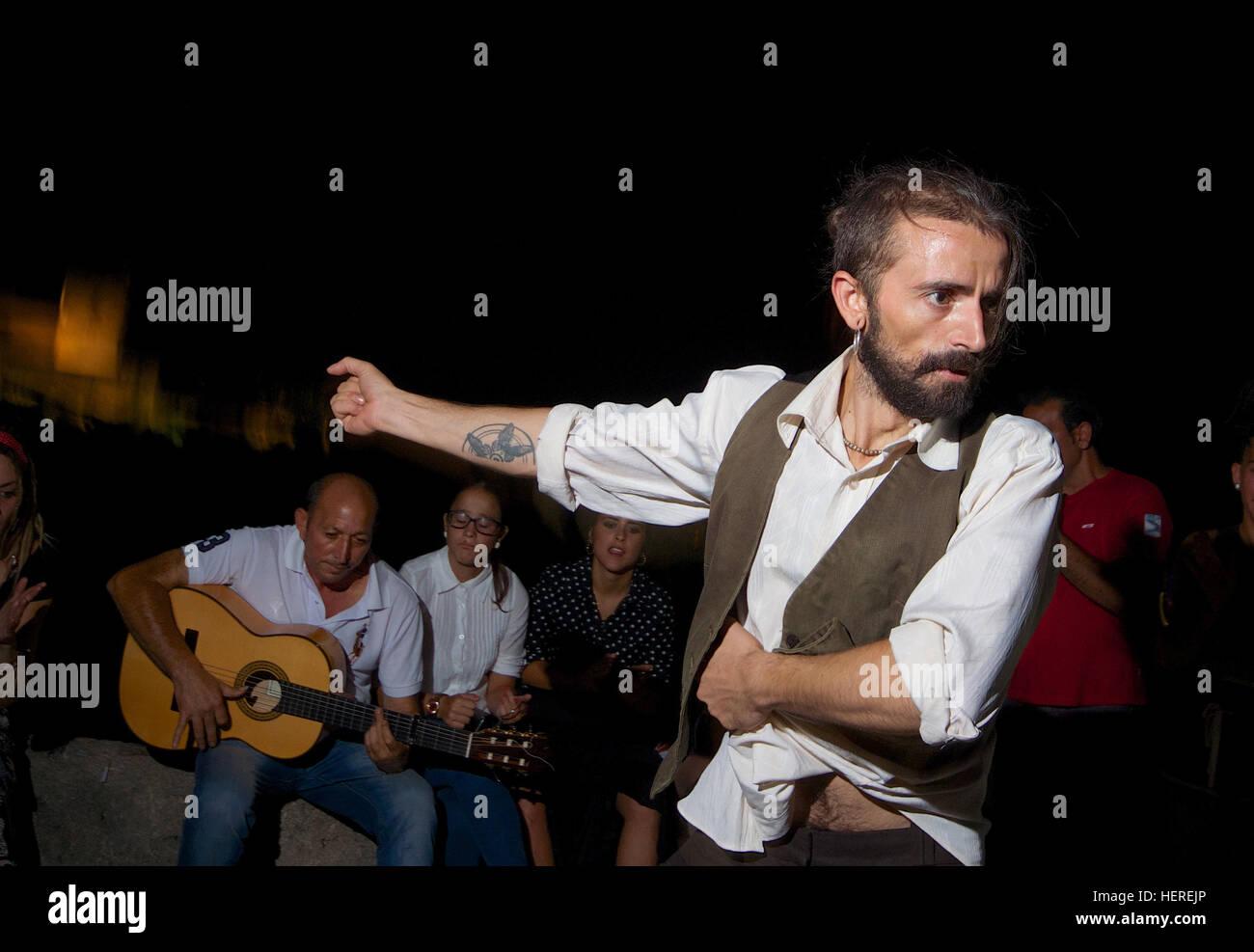 Male flamenco dancer, Granada - Stock Image