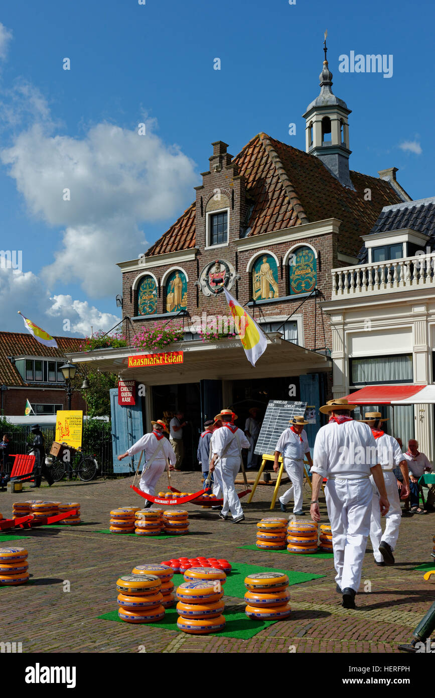 Cheese Market, Edam, Edam-Volendam, North Holland Province, The Netherlands - Stock Image