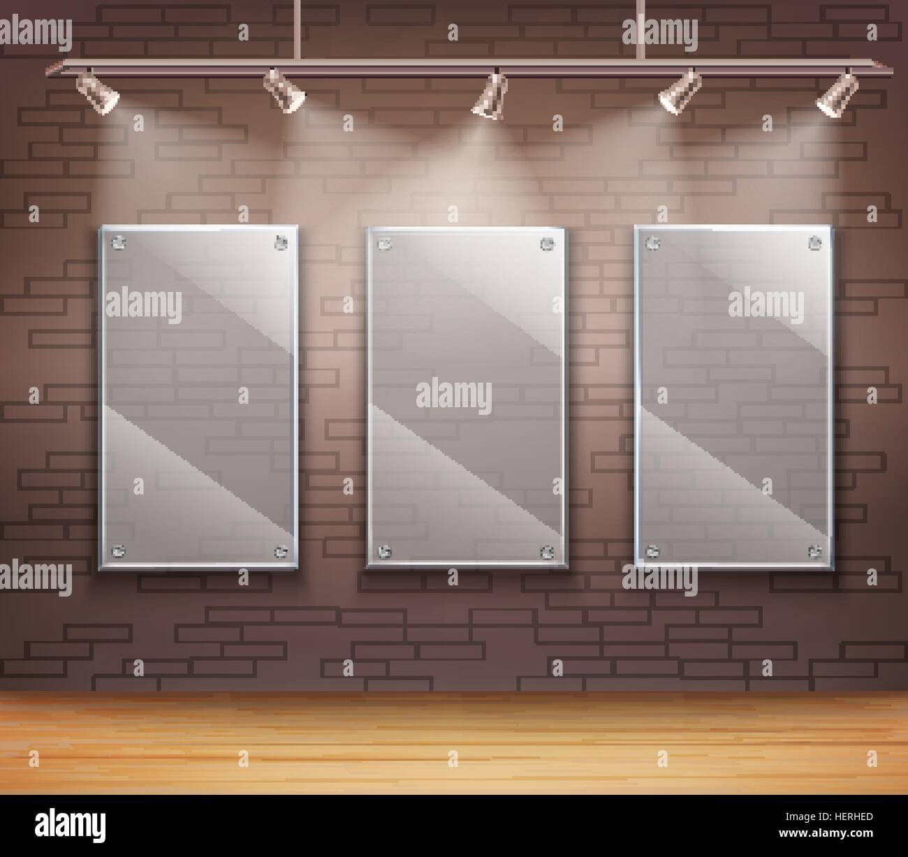 Glass Gallery Frames Gallery Of 3 Transparent Glass Frames On Wall