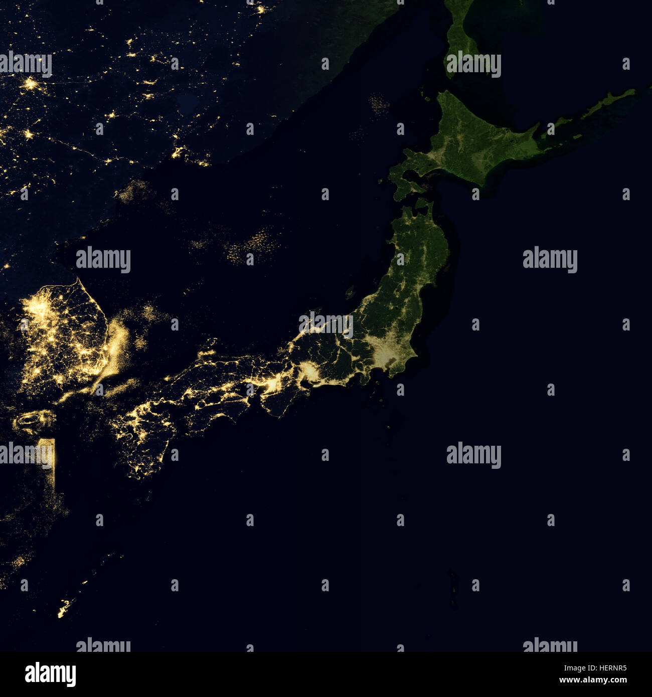 City lights on world map japan stock photo 129599769 alamy city lights on world map japan gumiabroncs Images