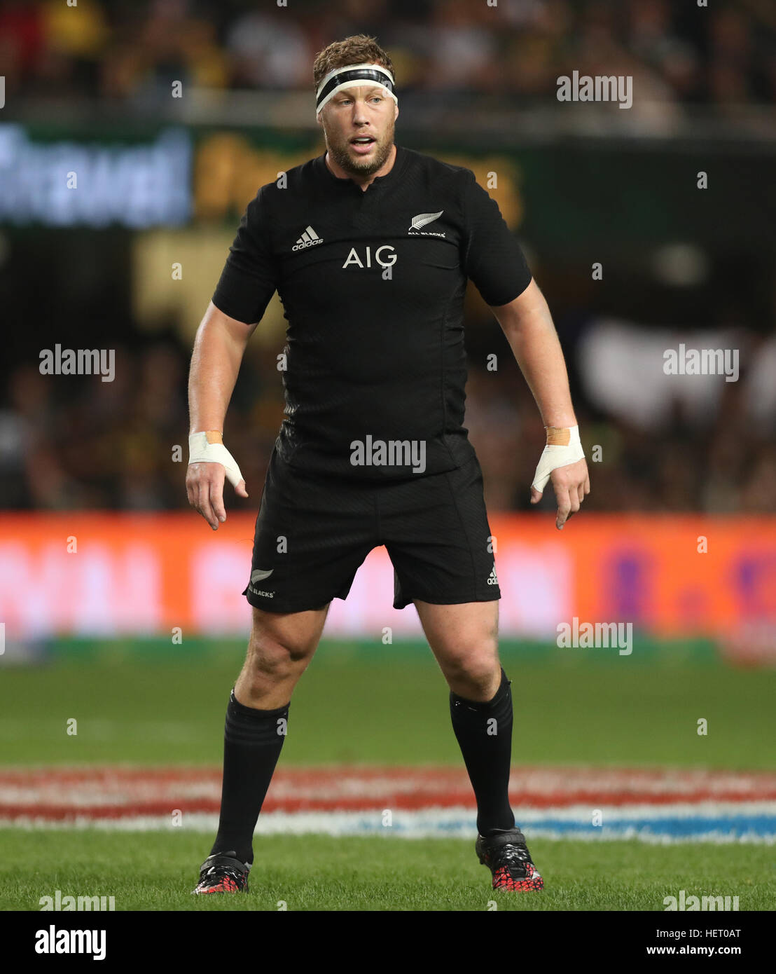 DURBAN, SOUTH AFRICA - OCTOBER 08: Wyatt Crockett of New Zealand during the The Rugby Championship match between - Stock Image