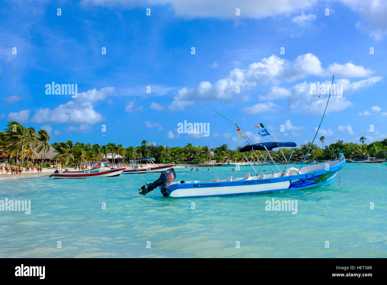 Akumal Bay, also known as Turtle Bay, Riviera Maya, near Playa Del Carmen, Mexico - Stock Image