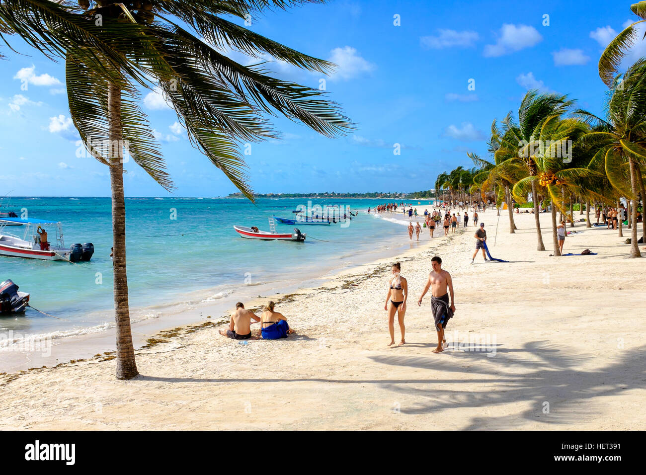Akumal Bay, also known as Turtle Bay, Riviera Maya, near Playa Del Carmen, Mexico - Stock Image