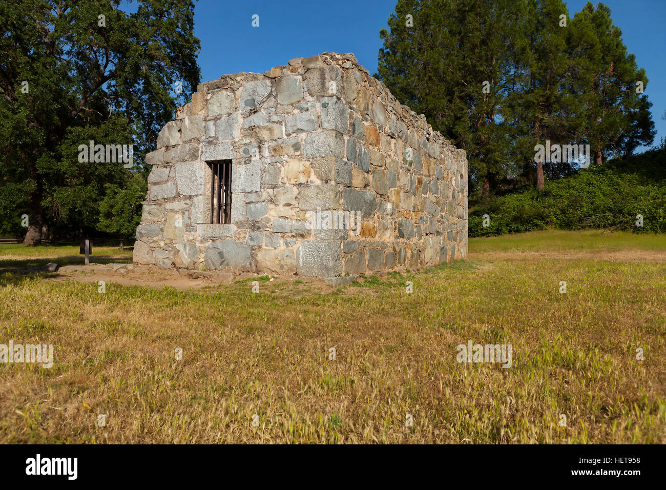 Old Stone Jail House in Coloma, California - Stock Image