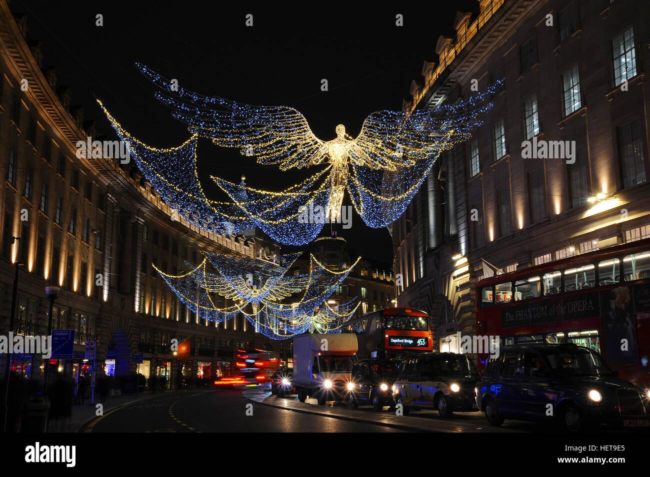 Regent Street's Christmas Lights in London, December 2016 Stock ...