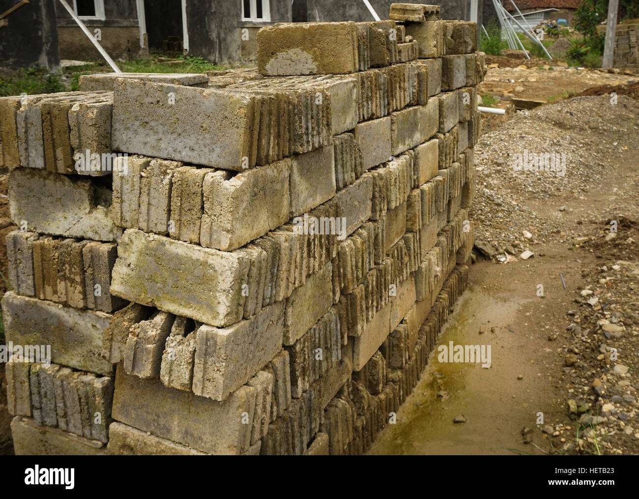 Flint soil stock photos flint soil stock images alamy for Where to start when building a house