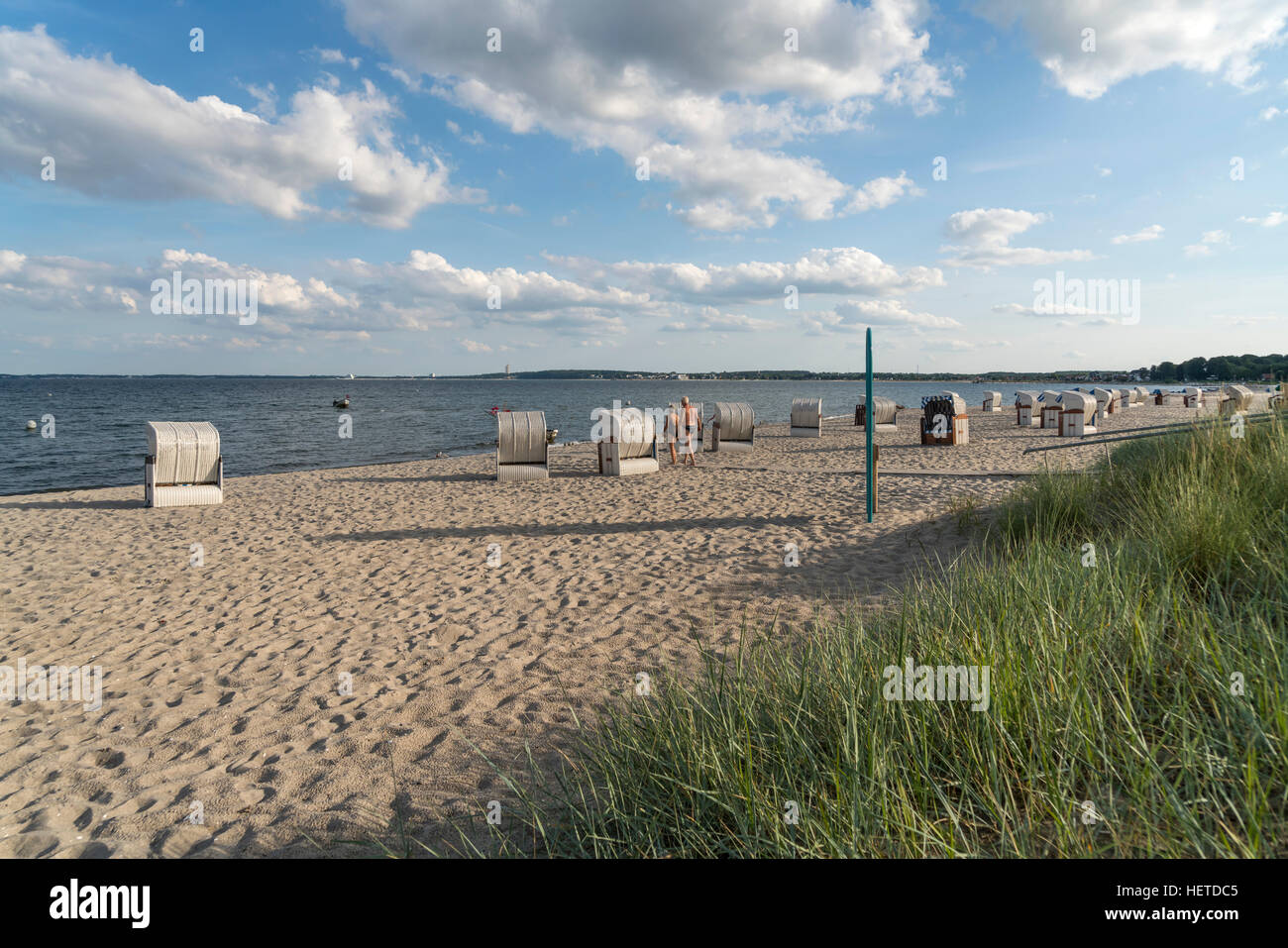 baltic beach near Sierksdorf,  Bay of Lübeck,  Schleswig-Holstein, Germany - Stock Image